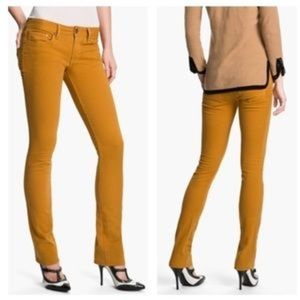 Tory Burch Ivy Super Skinny Mustard Jeans size 24